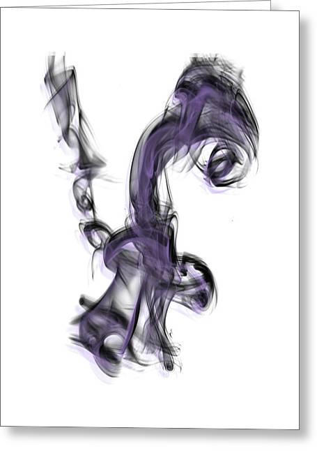 Smoke 01 Purple Greeting Card