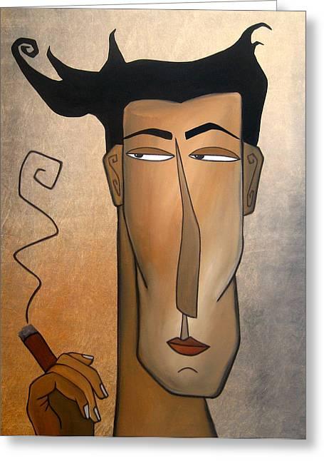 Picasso Greeting Cards - Smoke Break Greeting Card by Tom Fedro - Fidostudio