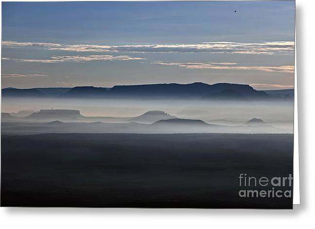 Greeting Card featuring the photograph Smoke From Wildfires After Sunrise In The Verde Valley by Ron Chilston