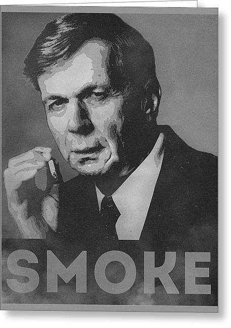 Smoke Funny Obama Hope Parody Smoking Man Greeting Card