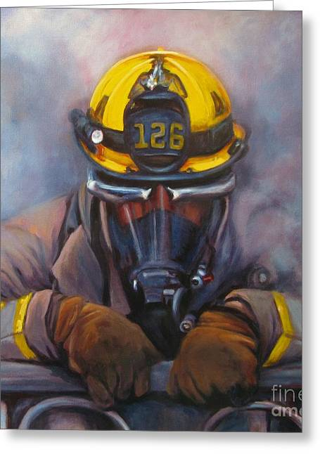 Smoke Jumper 126 Greeting Card by Pat Burns