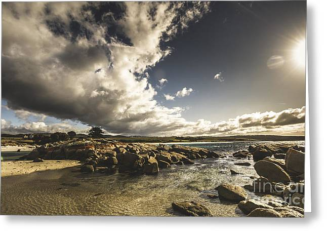 Smoke Like Clouds On The Bay Of Fires Greeting Card