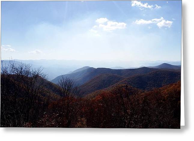 Smoke Of The Smokies Greeting Card by Cathy Harper