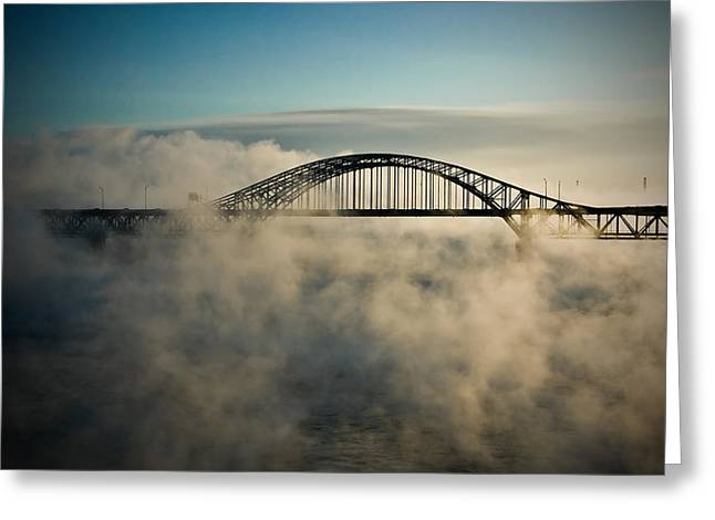 Smoke On The Water Greeting Card by Michel Filion