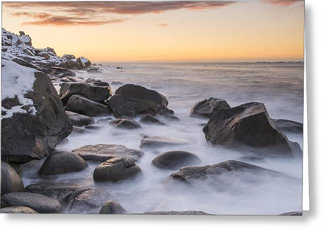 Smoke On The Water Greeting Card by Timm Chapman
