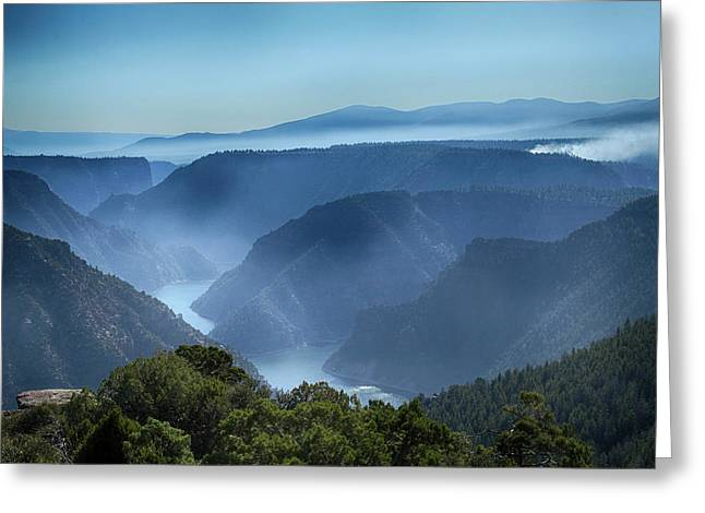 Smoke Over Flaming Gorge Greeting Card