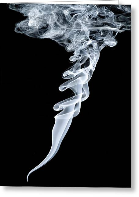 Smoke Patterns Greeting Card by Paul Rapson