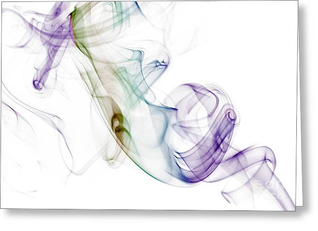 Smoke Seahorse Greeting Card by Nailia Schwarz