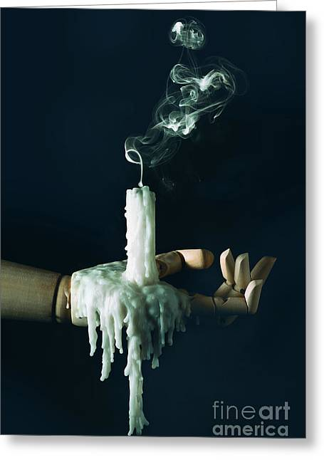 Smoke Trail From Candle Greeting Card