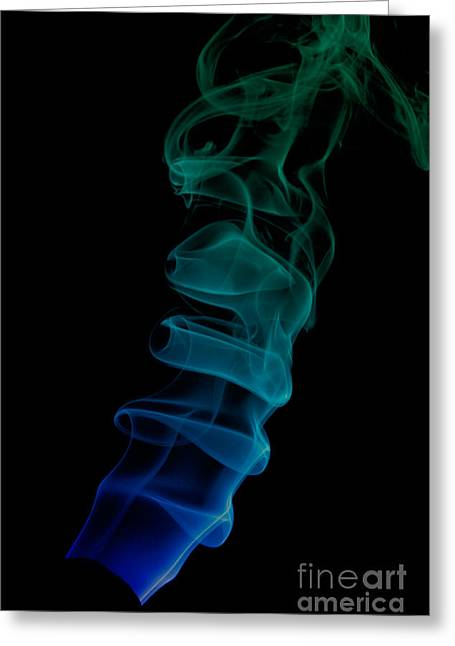 Greeting Card featuring the photograph smoke XIX ex by Joerg Lingnau