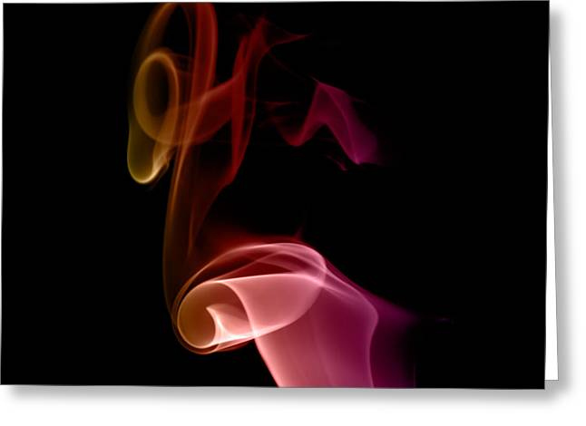 Greeting Card featuring the photograph smoke XXVII by Joerg Lingnau