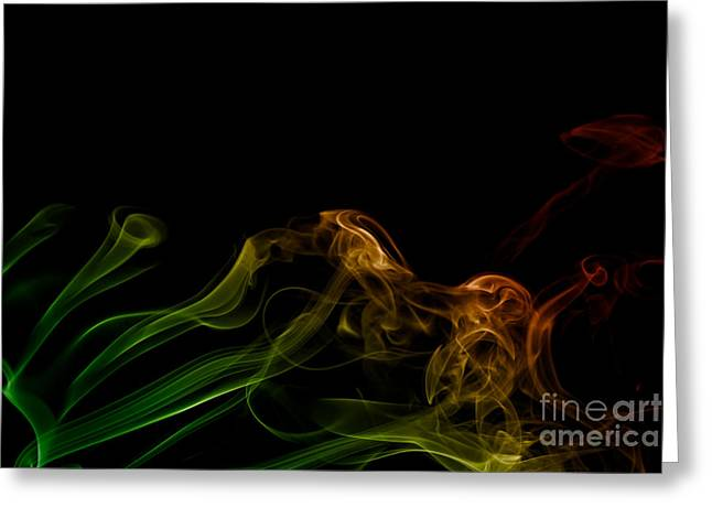 Greeting Card featuring the photograph smoke XXXI by Joerg Lingnau
