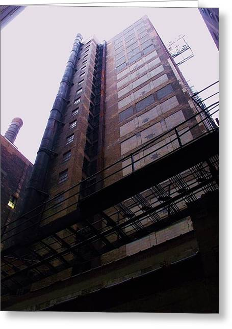 Smokestack And Fire Escape II Greeting Card