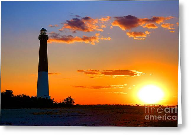 Smokestack Barnegat Greeting Card by Olivier Le Queinec