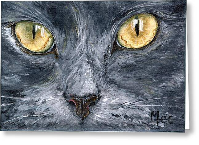 Smokey Greeting Card by Mary-Lee Sanders