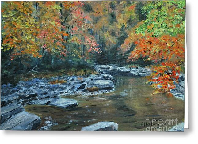 Smokey Mountain Autumn Greeting Card