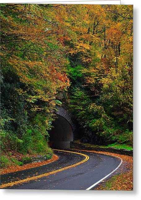 Smokey Mountain Tunnel Greeting Card by Dennis Nelson