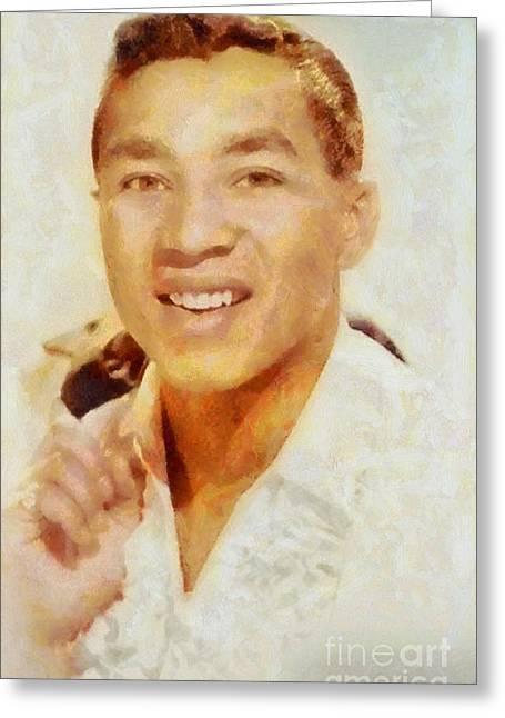 Smokey Robinson, Music Legend Greeting Card by Sarah Kirk