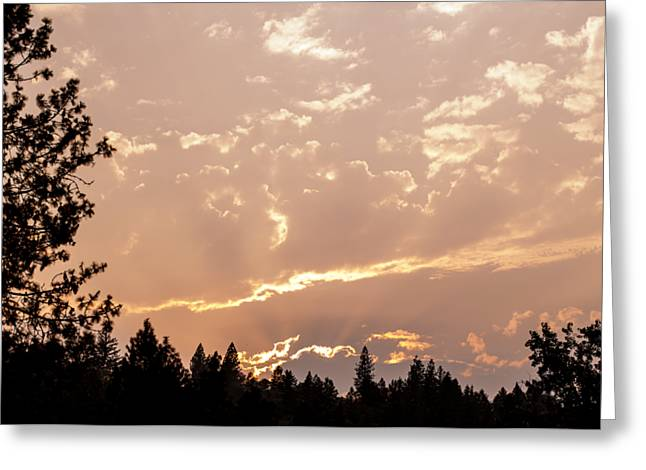 Smokey Skies Sunset Greeting Card by Melanie Lankford Photography