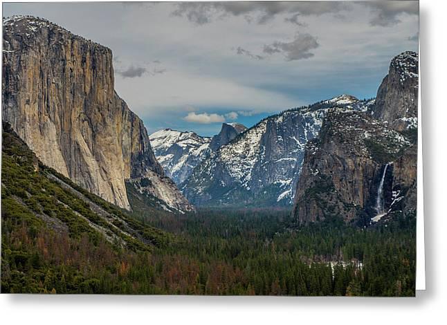 Smokey Yosemite Valley Greeting Card
