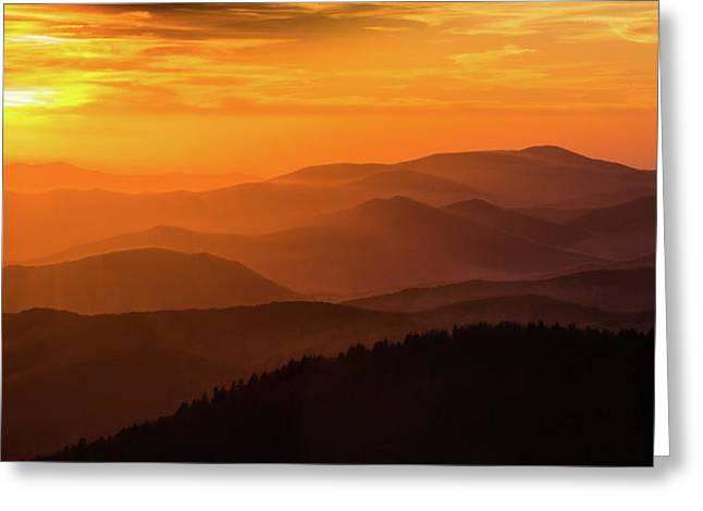 Smokie Mountain Ridges Greeting Card