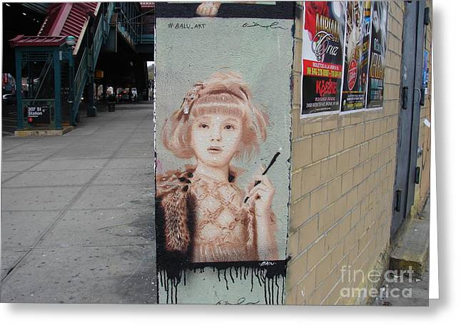 Greeting Card featuring the photograph Smoking Girl  by Cole Thompson