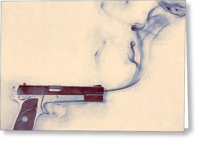 Smoking Gun Greeting Card