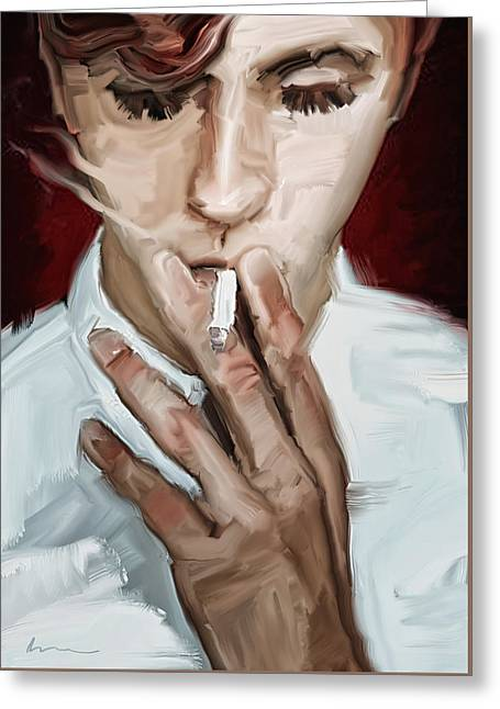 Smoking Greeting Card by H James Hoff