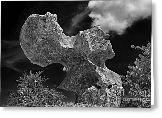 Smoking Rock Greeting Card by Ray Evans