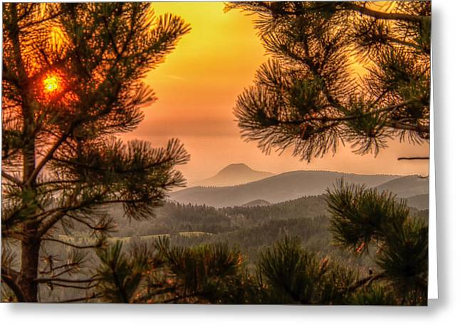 Smoky Black Hills Sunrise Greeting Card