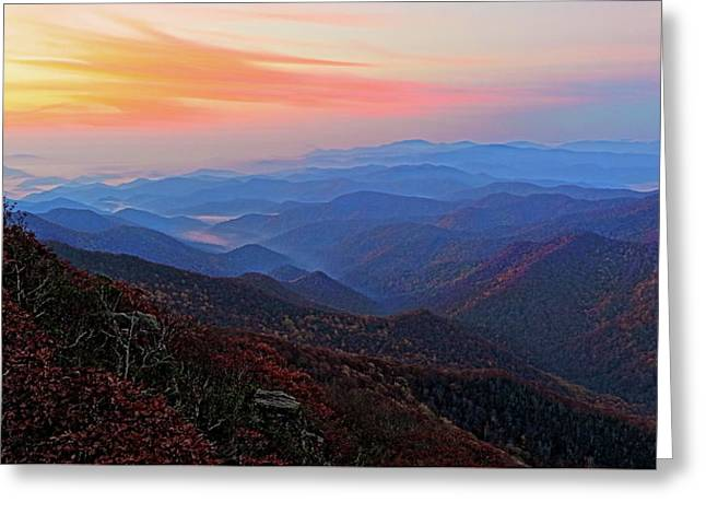 Dawn From Standing Indian Mountain Greeting Card