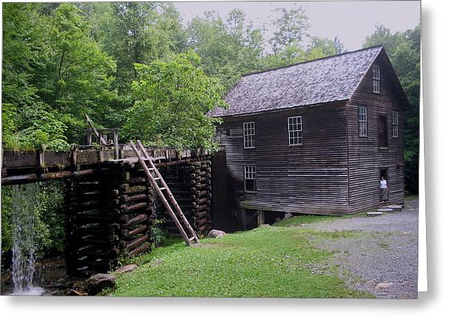 Smoky Mountain Mill Greeting Card by CGHepburn Scenic Photos