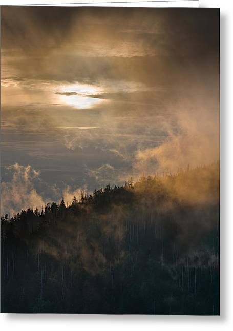 Smoky Mountain Greeting Card by Steve Gadomski
