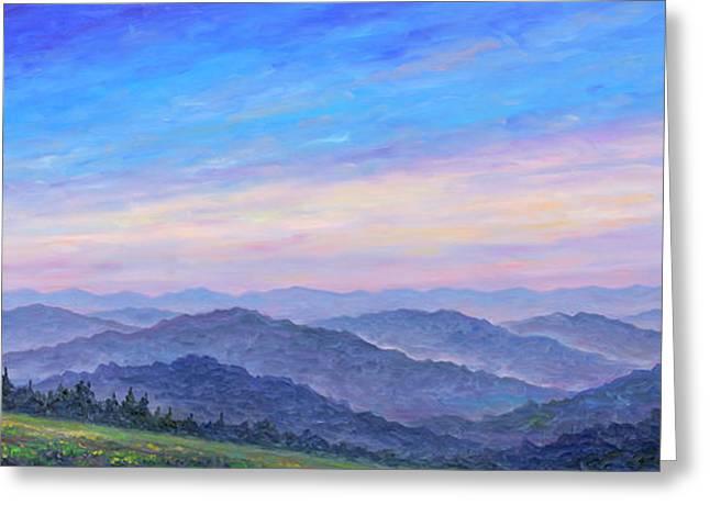 Smoky Mountain Wildflowers - Panorama Greeting Card by Jeff Pittman
