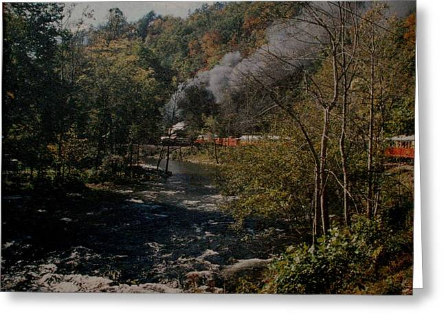 Smoky Mountains Rail Road Greeting Card by Joseph G Holland