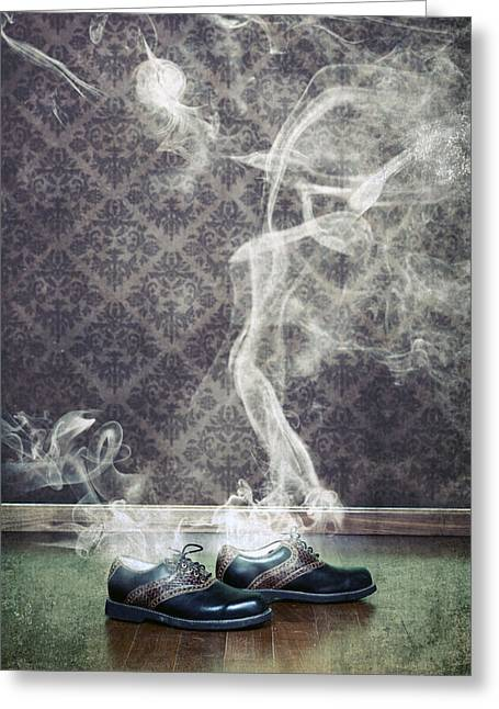 Men Shoes Greeting Cards - Smoky Shoes Greeting Card by Joana Kruse