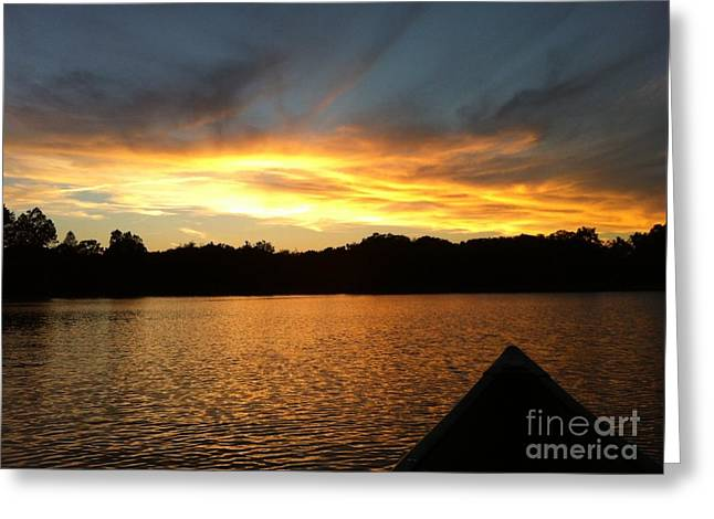 Smoldery Sunset Greeting Card