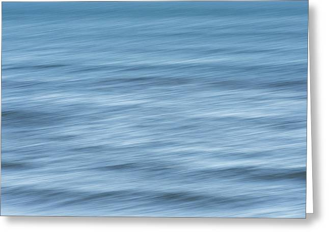 Smooth Blue Abstract Greeting Card by Terry DeLuco