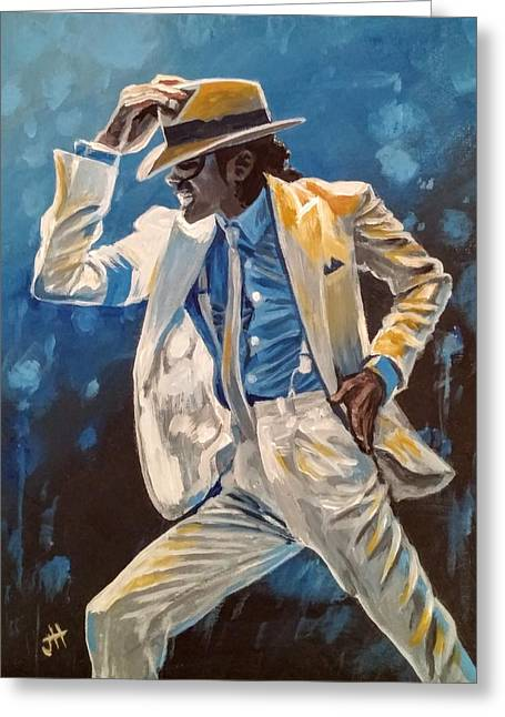 Greeting Card featuring the painting Smooth Criminal by Jennifer Hotai