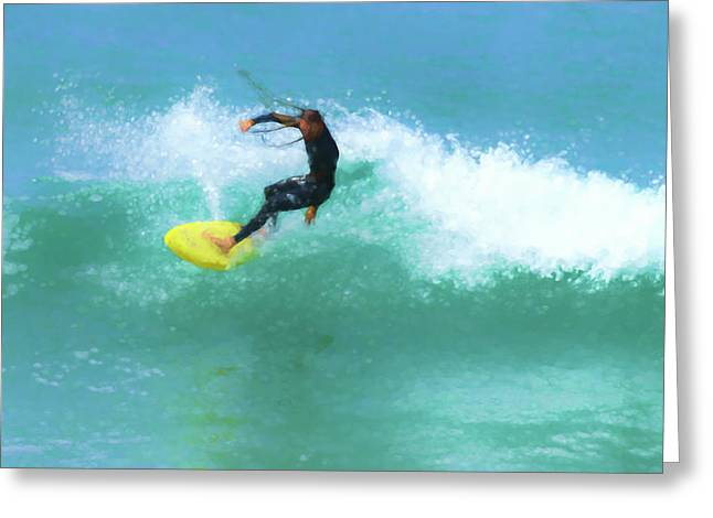 Smooth Dreadlocks Surfer Watercolor Greeting Card
