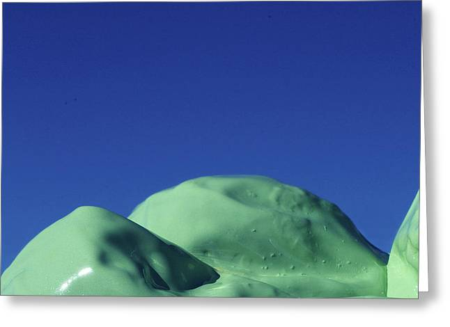 Smooth Green Mountians Greeting Card
