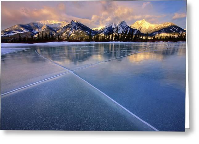 Smooth Ice Greeting Card by Dan Jurak