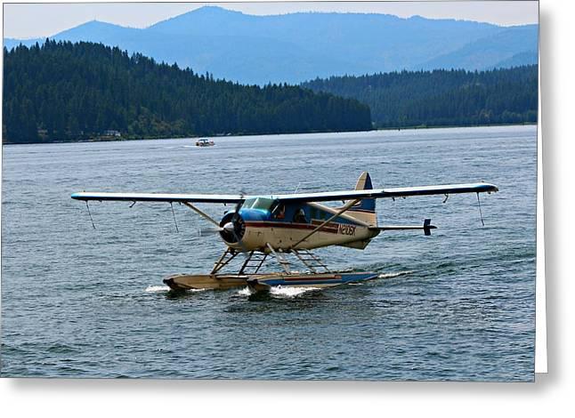 Smooth Landing On Lake Coeur D'alene Greeting Card