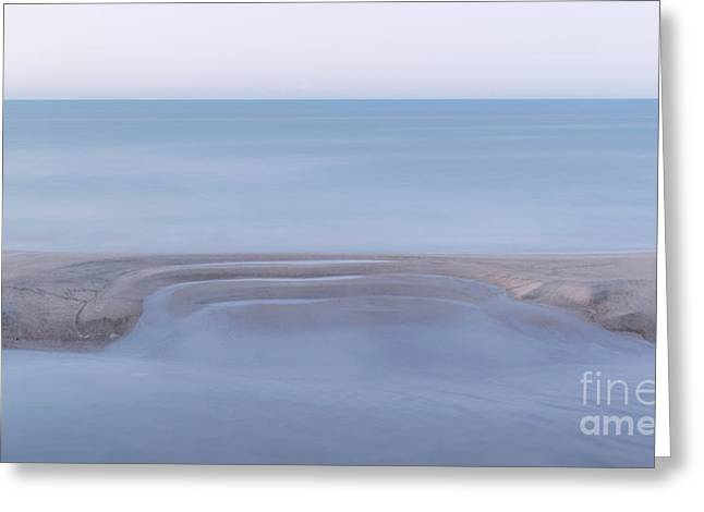 Smooth Ocean Greeting Card by Martin Capek
