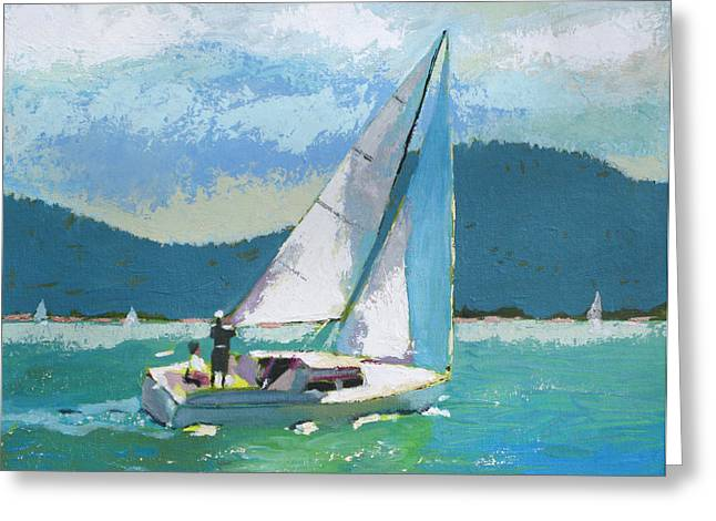 Smooth Sailing Greeting Card by Robert Bissett