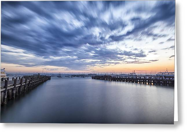 Urban Images Greeting Cards - Smooth Water Greeting Card by Joseph S Giacalone