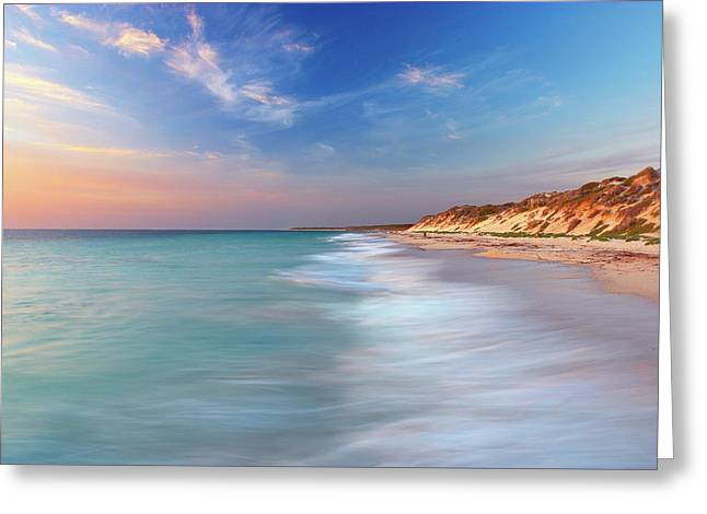 Smooth Waters, Quinns Rocks, Perth Greeting Card