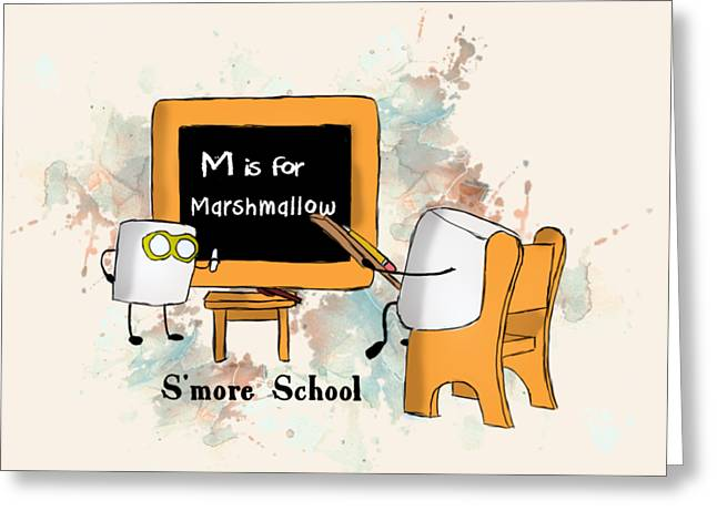 Smore School Illustrated Greeting Card by Heather Applegate
