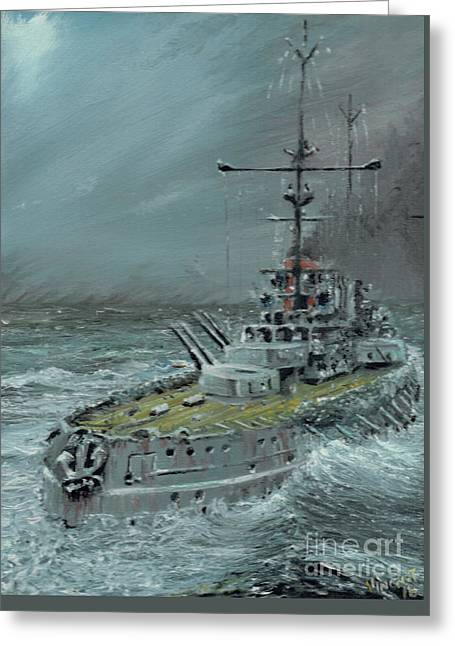 Sms Friedrich Der Grosse At Jutland 1916 Greeting Card