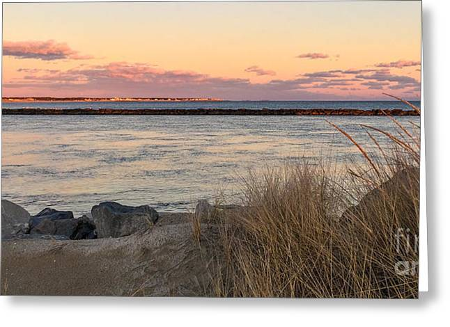 Greeting Card featuring the photograph Smugglers Beach Sunset II by Michelle Wiarda